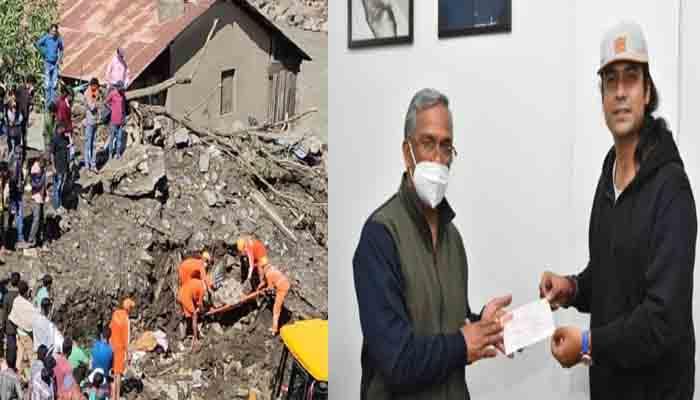 उत्तराखंड आपदा: जुबिन नौटियाल ने सीएम त्रिवेंद्र रावत को सौंपा 13 लाख का चेक, पीड़ितों की होगी मद्द।