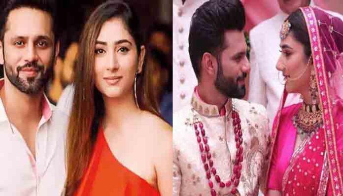 राहुल वैद्या और दिशा परमार बंधे शादी के बंधन में, सोशल मीडिया पर वीडियो वायरल।