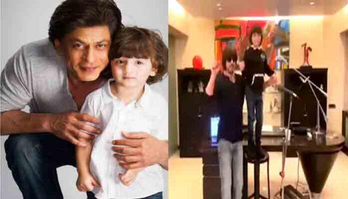 शाहरूख खान के नए सॉन्ग पर झूमते हुए नजर आए अबराम खान,आप भी देखें वीडियो।