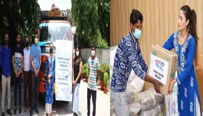 Aarushi Nishank महामारी के दौरान कर रही लोगों की मदद,बांटा राशन औऱ मेडिकल किट।