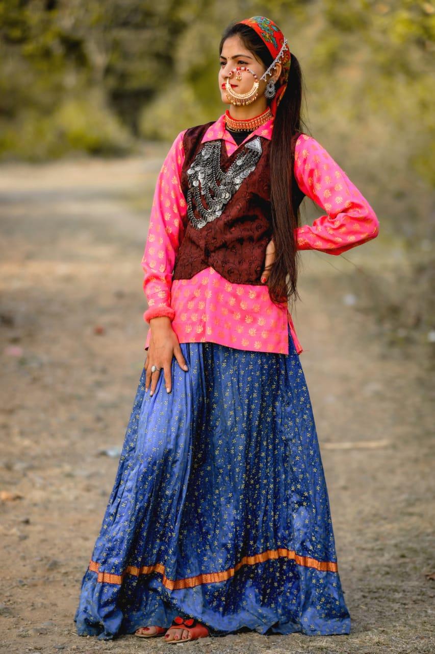 Anisha Ranghar in Jaunsari Dress