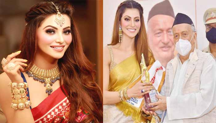 pahad-daughter-urvashi-rautela-created-history-honored-with-stree-shakti-award-2021