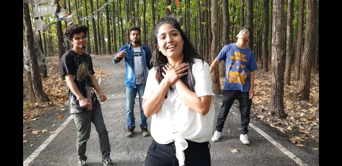 Priyanka Meher with Friends