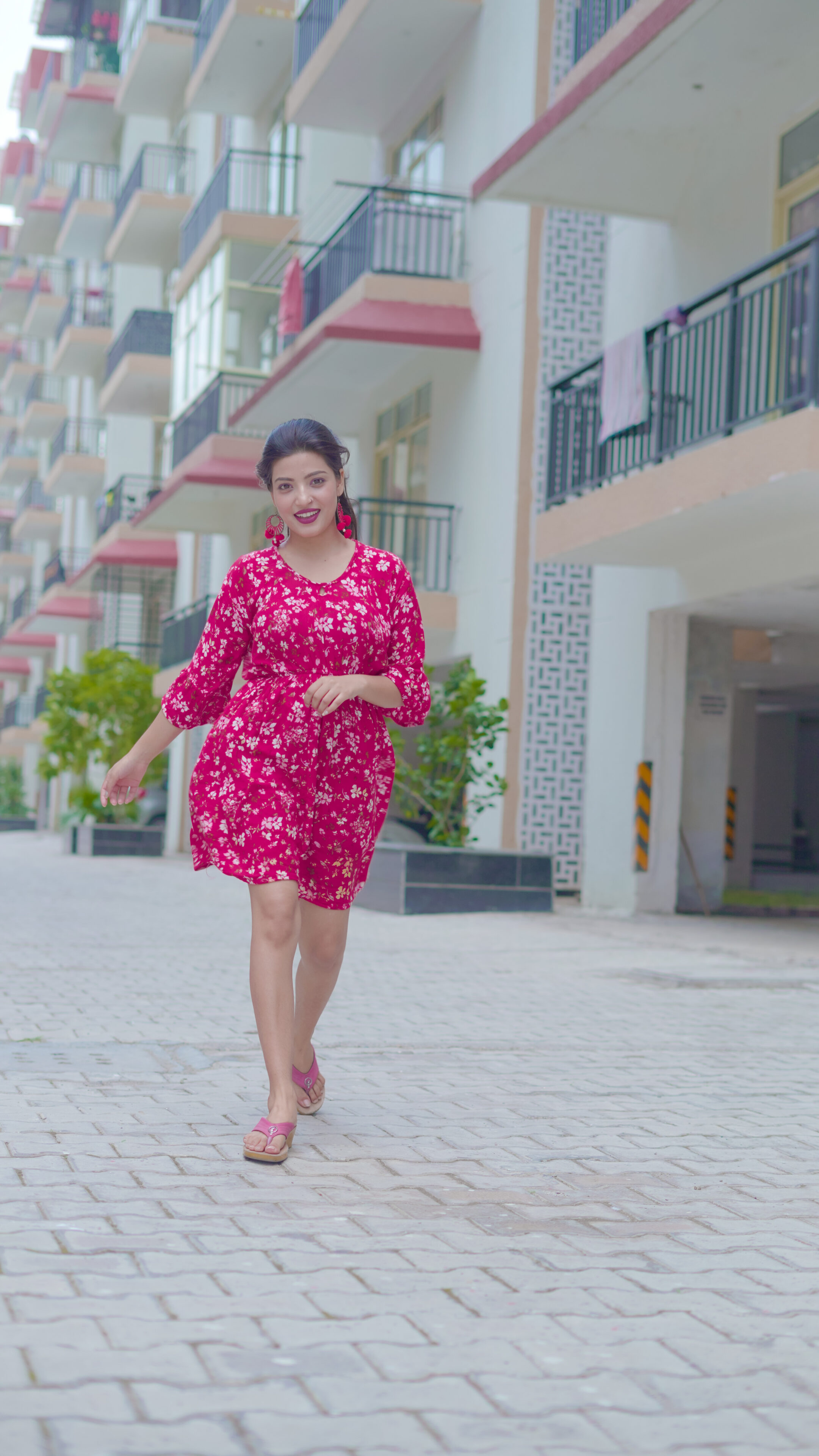 Aisha Siddiqui in western dress