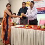 Sonia Joshi Receiving Award and appreciation from IPS Ashok Kumar